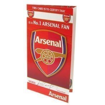Arsenal Syntymäpäiväkortti No 1 Fan