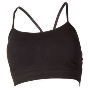 Bamboo Strappy Bra with Removable Cups musta