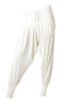 Bambuhaaremihousut valkoinen