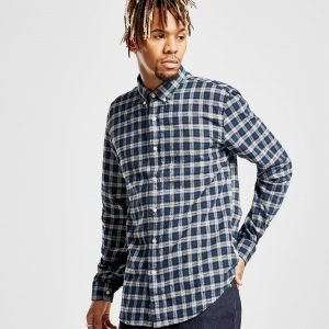 Barbour Beacon Dean Long Sleeve Checked Shirt Laivastonsininen