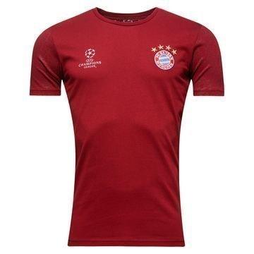 Bayern München T-paita Champions League Viininpunainen