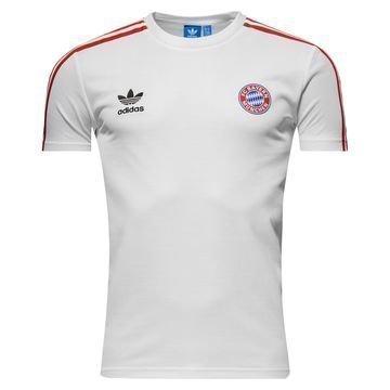 Bayern München T-paita Originals Valkoinen/Punainen