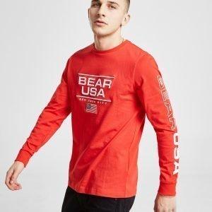 Bear Usa Saguaro Long Sleeve T-Paita Punainen