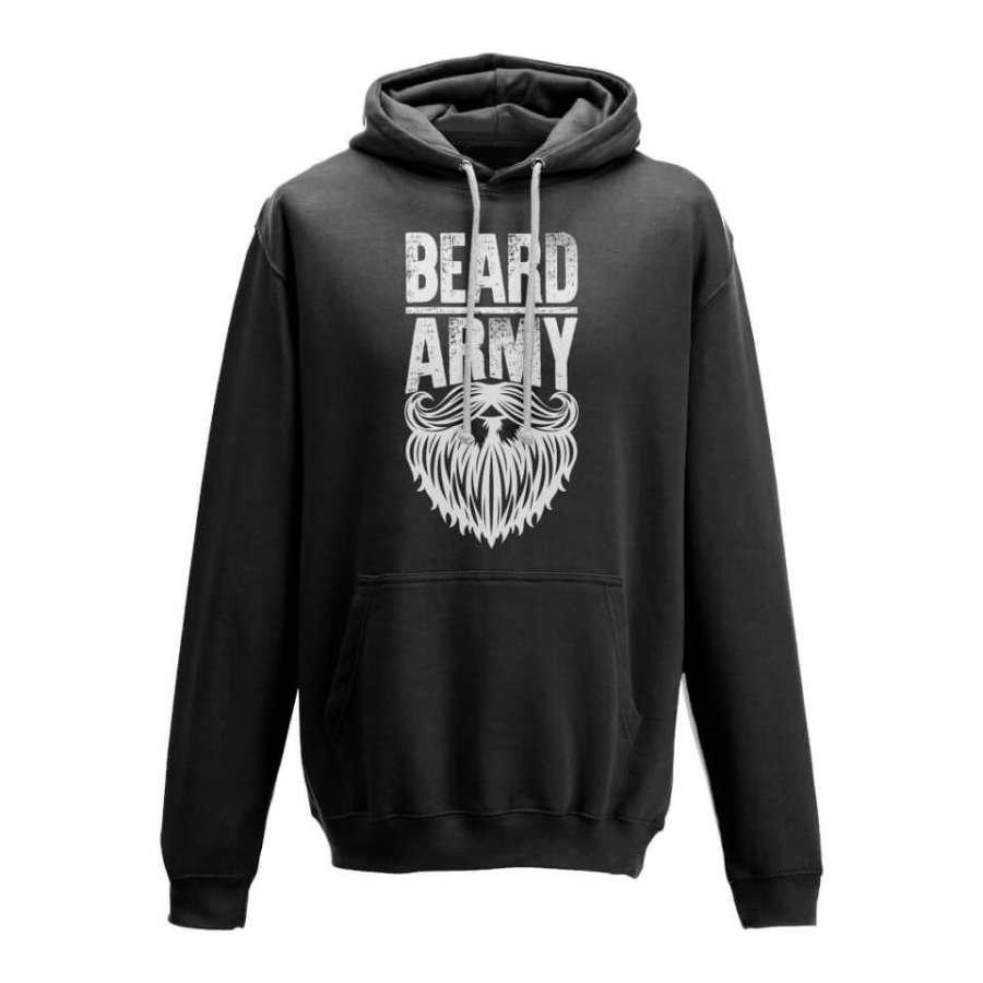 Beard Army Men's Black Insignia Hoodie S Musta