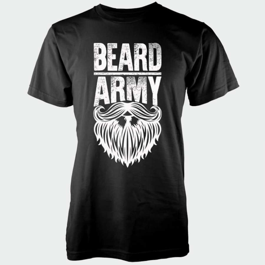 Beard Army Men's Black Insignia T-Shirt XL Musta