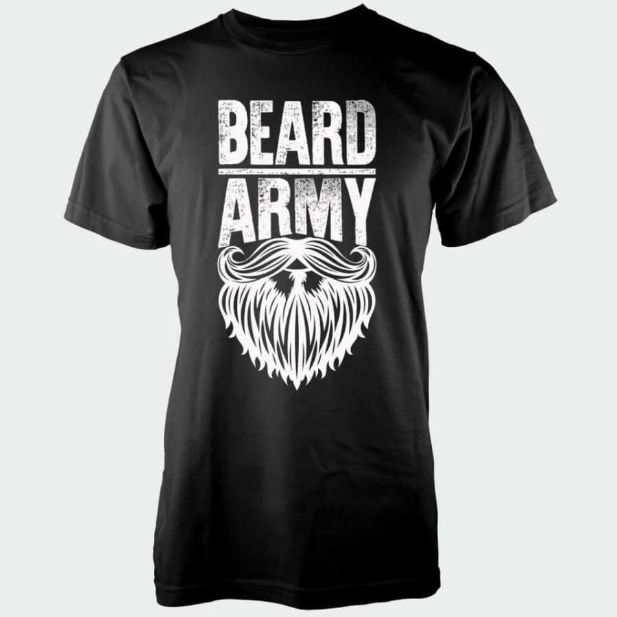Beard Army Men's Black Insignia T-Shirt XXL Musta