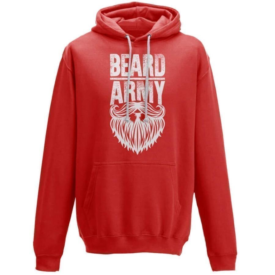 Beard Army Men's Red Insignia Hoodie L Punainen
