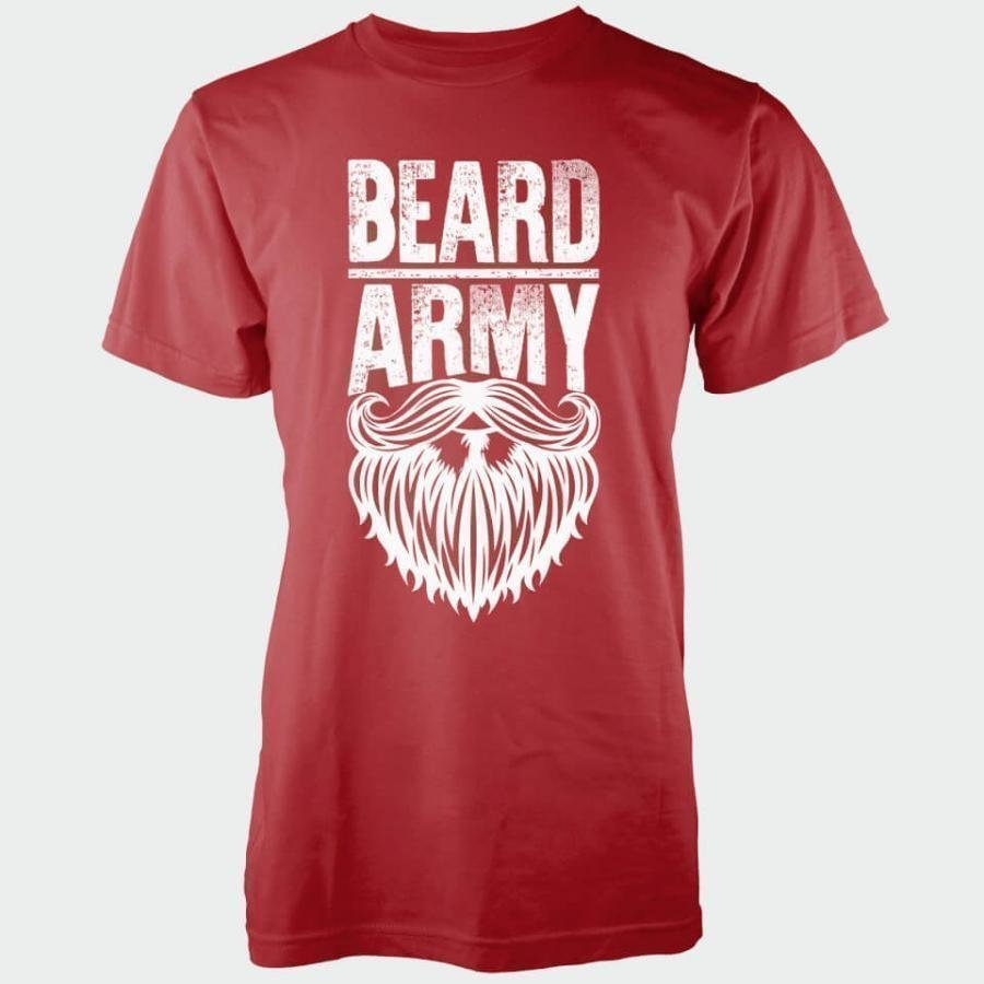 Beard Army Men's Red Insignia T-Shirt L Punainen