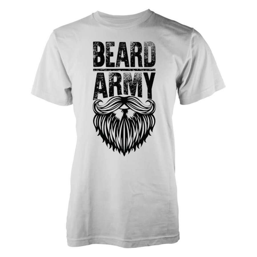 Beard Army Men's White Insignia T-Shirt L Valkoinen