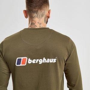 Berghaus Long Sleeve Back Logo T-Shirt Khaki