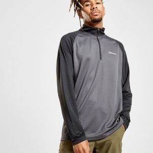 Berghaus Tech 1/4 Zip Long Sleeve T-Shirt Harmaa