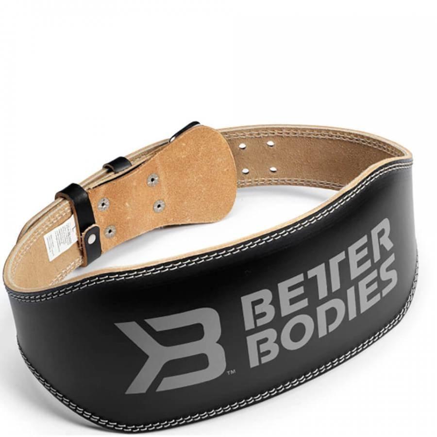Better Bodies 6 Inch Lifting Belt Black M Musta