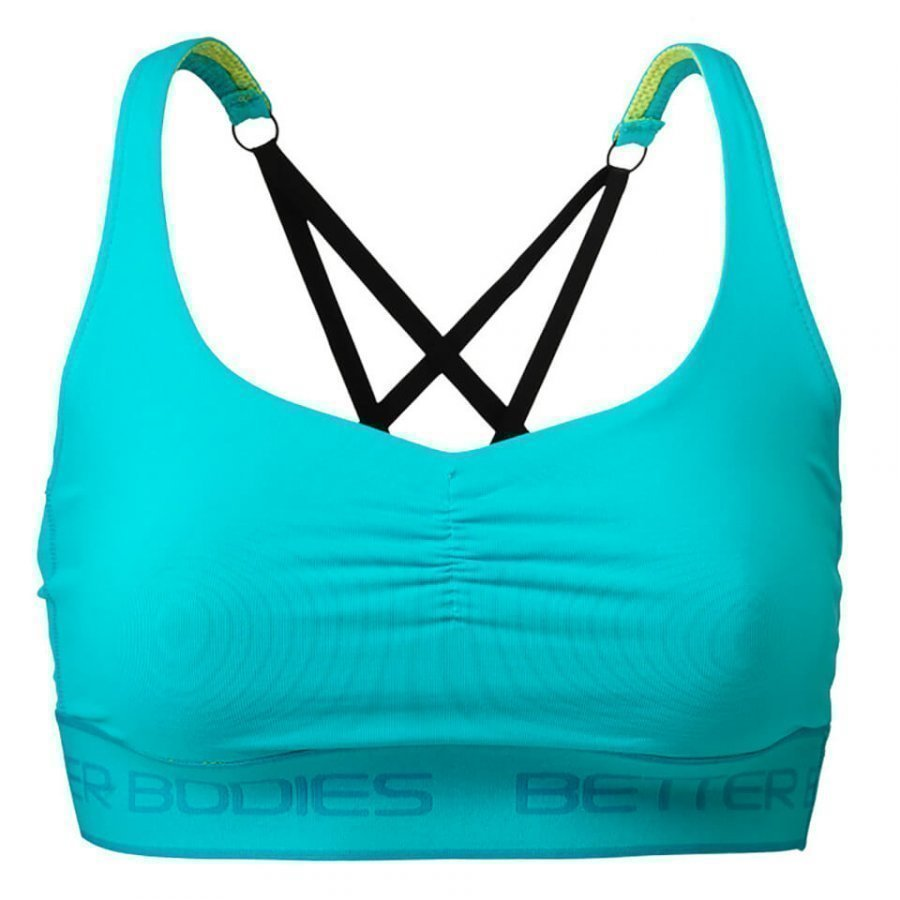 Better Bodies Athlete Short Top Aqua Blue S Sininen