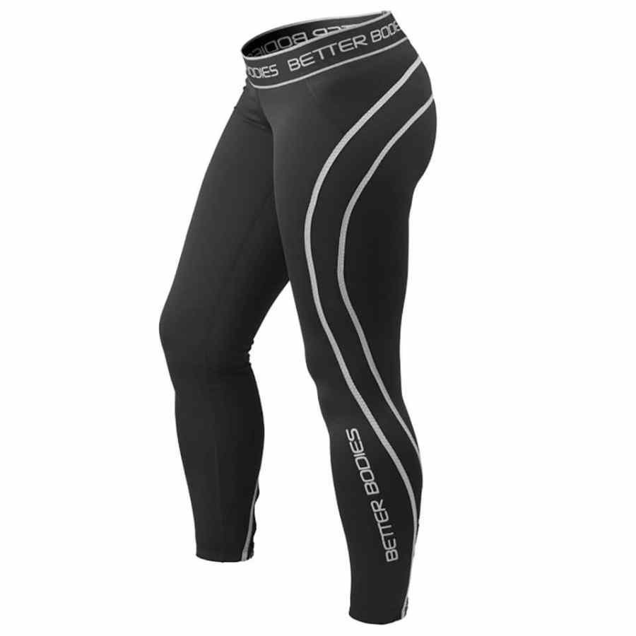Better Bodies Athlete Tights Black/Grey XS Black/Grey
