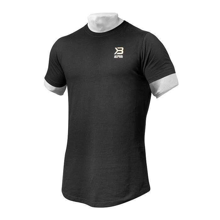 Better Bodies BB Alpha Zip Tee Black Medium