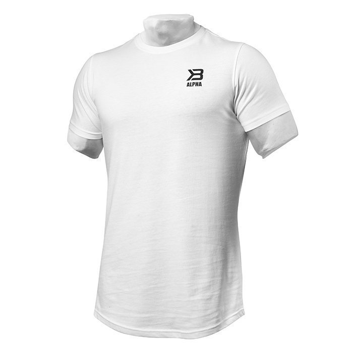 Better Bodies BB Alpha Zip Tee White Small