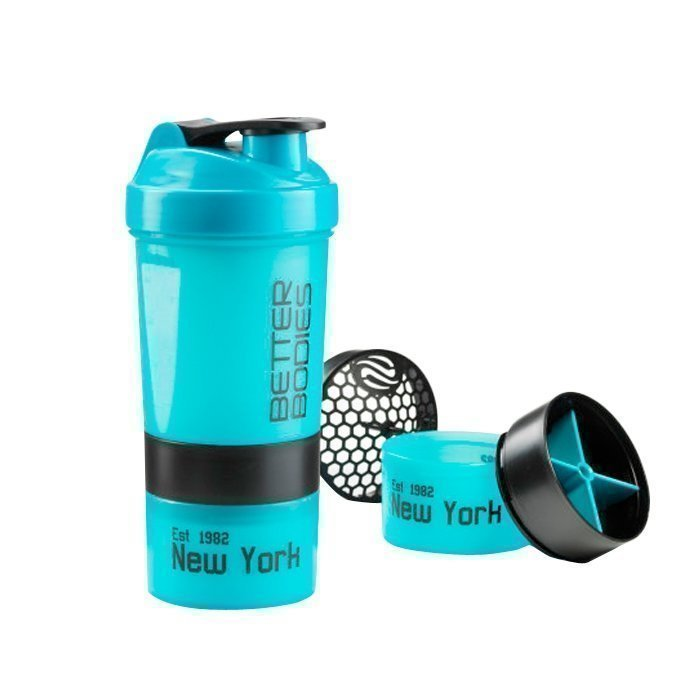Better Bodies BB Pro Shaker 600 ml aqua/black