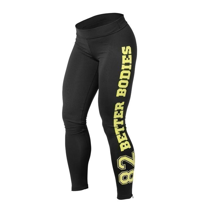Better Bodies BB Womens Pants Varsity tights black/lime XS