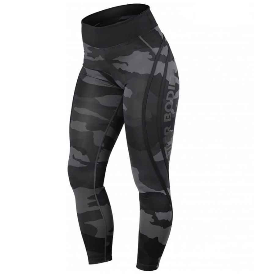Better Bodies Camo High Tights Dark Camo XS Vihreä