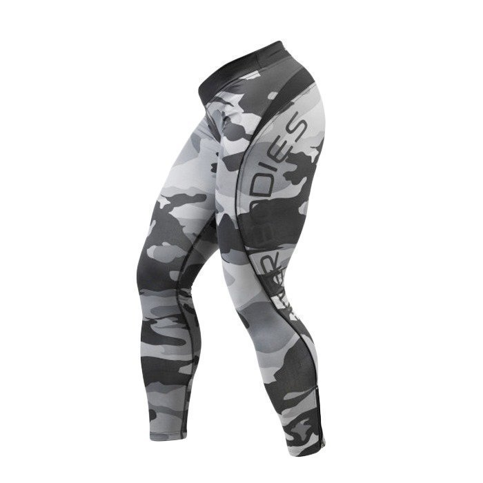 Better Bodies Camo long tights grey camo print L
