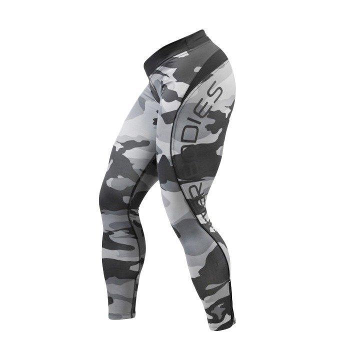 Better Bodies Camo long tights grey camo print M
