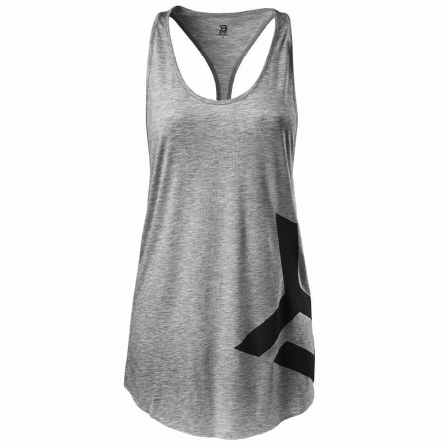 Better Bodies Chelsea T-Back Vest Grey Melange L Harmaa