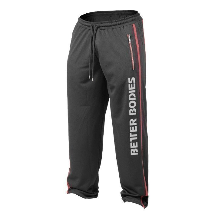 Better Bodies Classic mesh pant black/red L