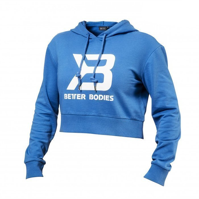 Better Bodies Cropped Hoodie Bright Blue Large