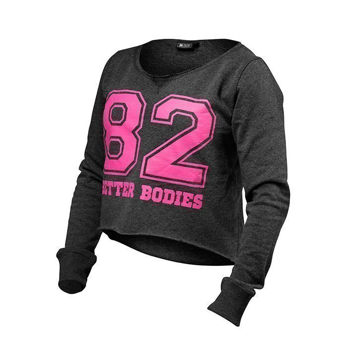 Better Bodies Cropped Sweater antracite melange XS