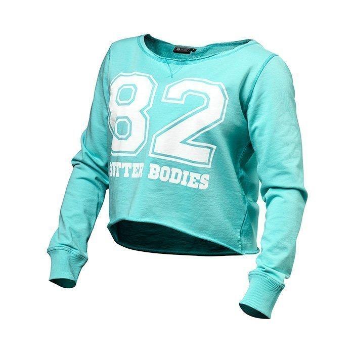 Better Bodies Cropped Sweater light aqua XS