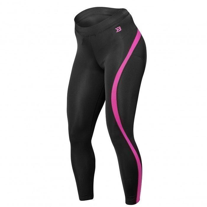 Better Bodies Curve Tights black/pink Medium