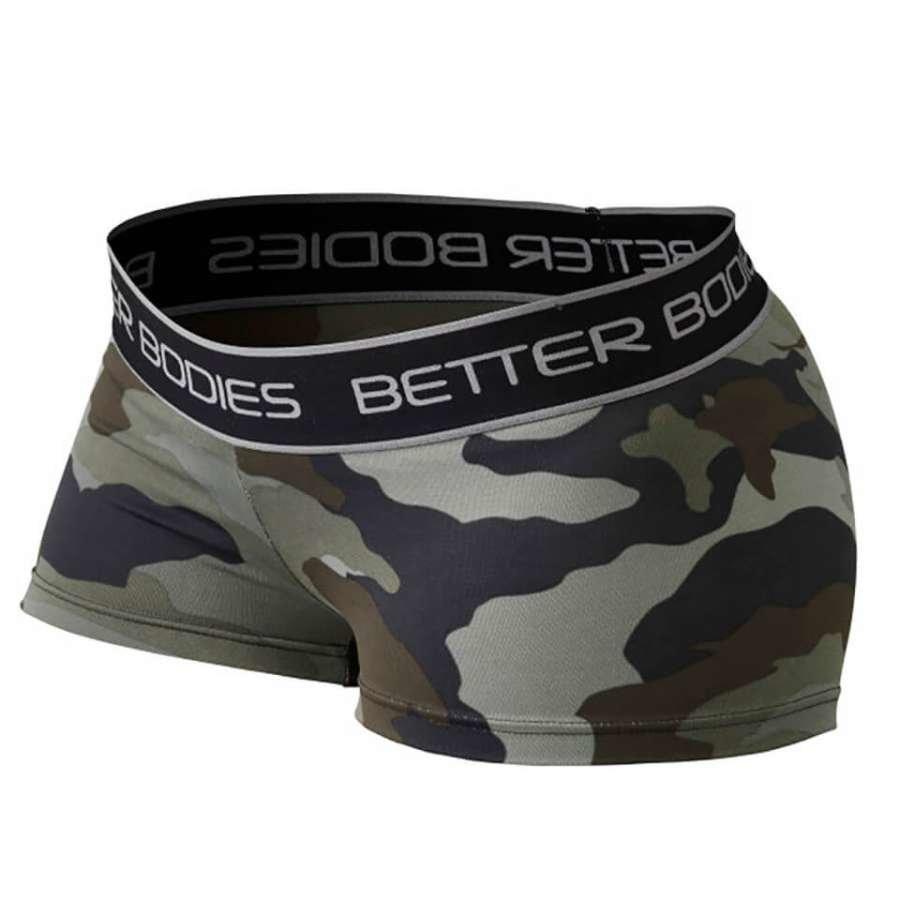 Better Bodies Fitness Hot Pants Green Camoprint L Vihreä