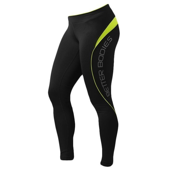 Better Bodies Fitness long tights black/lime XS