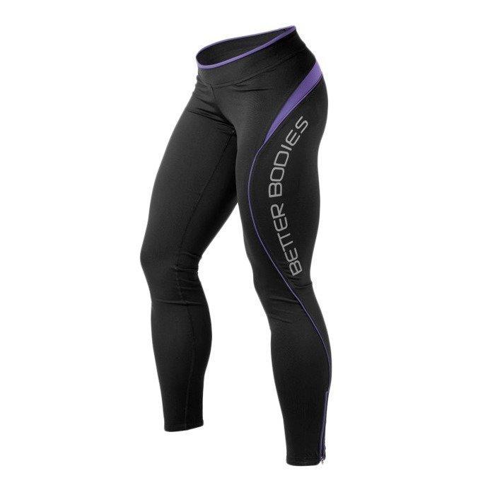 Better Bodies Fitness long tights black/purple L