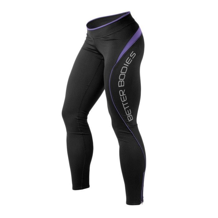 Better Bodies Fitness long tights black/purple