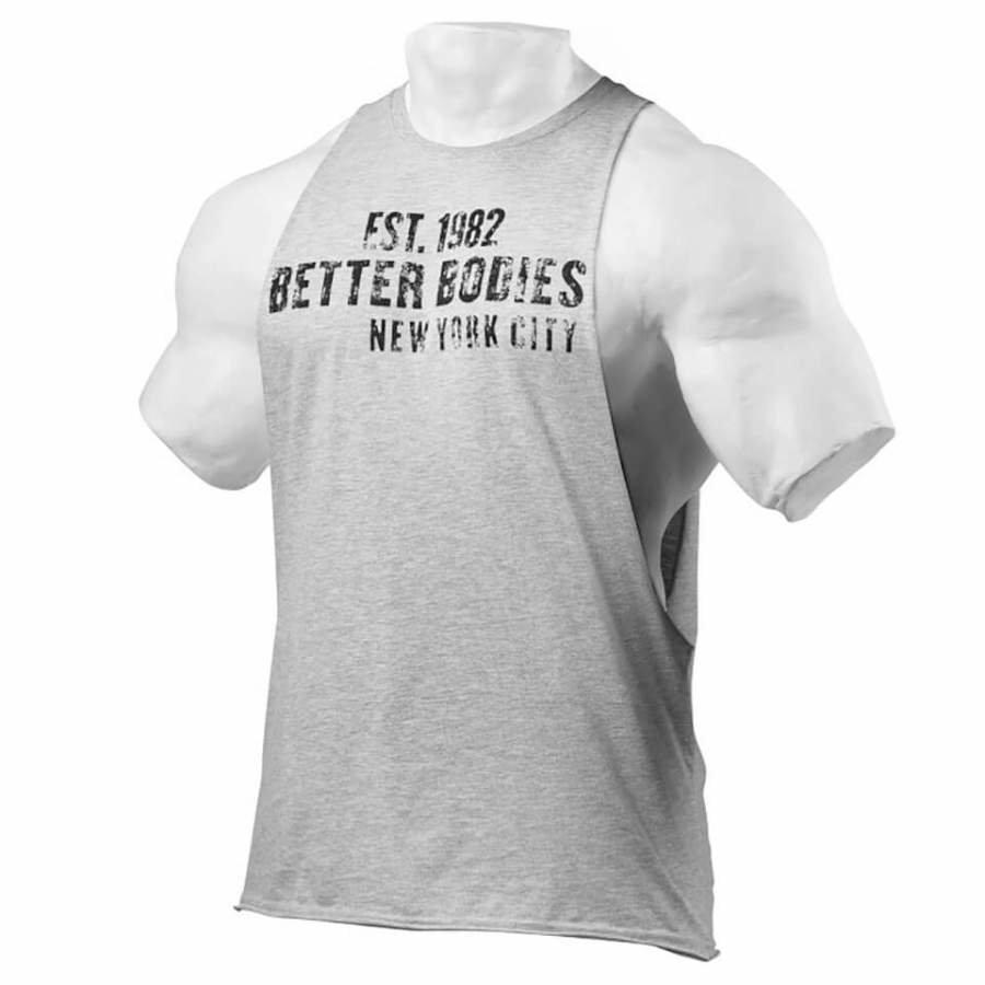 Better Bodies Graphic Logo Short Sleeve T-Shirt Grey Melange S Harmaa