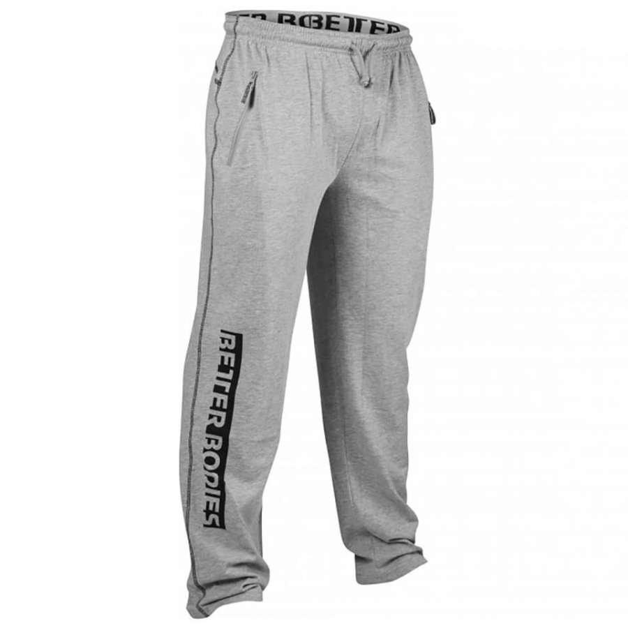 Better Bodies Gym Sweatpants Grey Melange L Harmaa