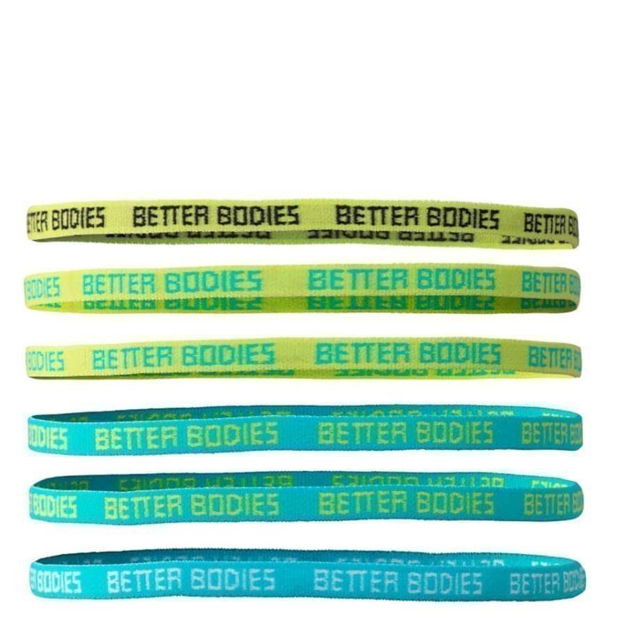 Better Bodies Headband Aqua/Dark Grey