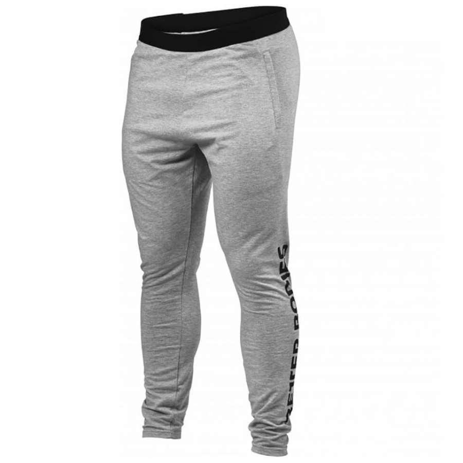 Better Bodies Hudson Jersey Pants Grey Melange XXL Harmaa