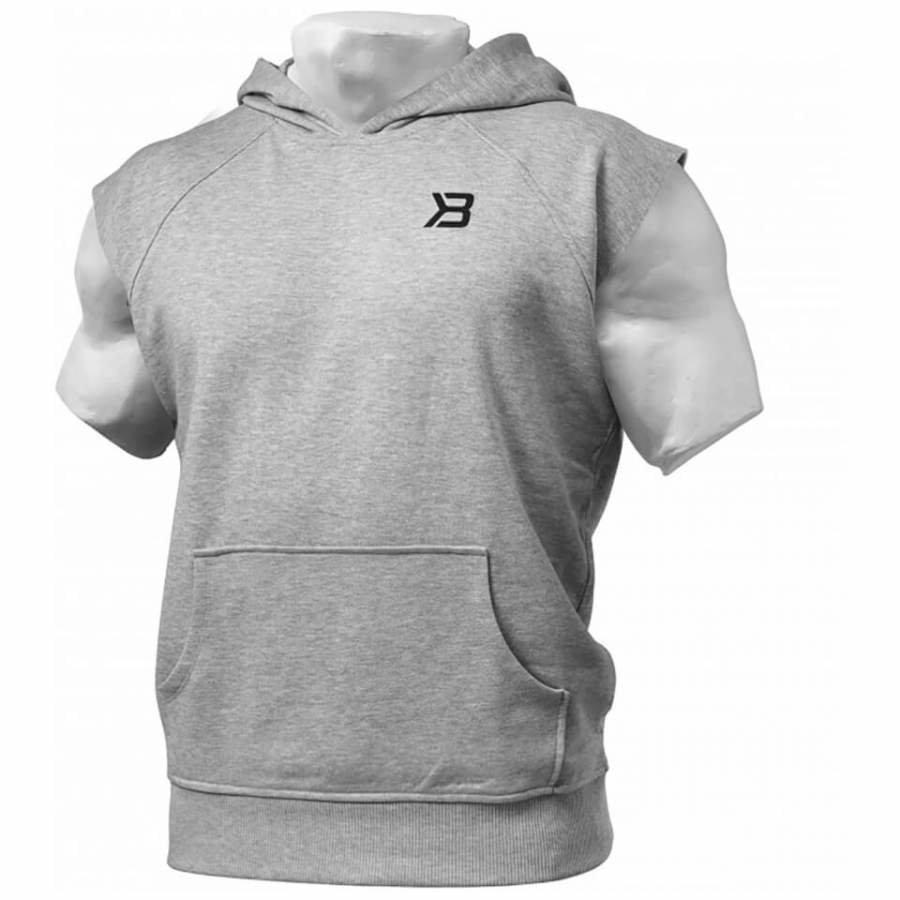 Better Bodies Hudson Short Sleeve Sweater Grey Melange L Harmaa
