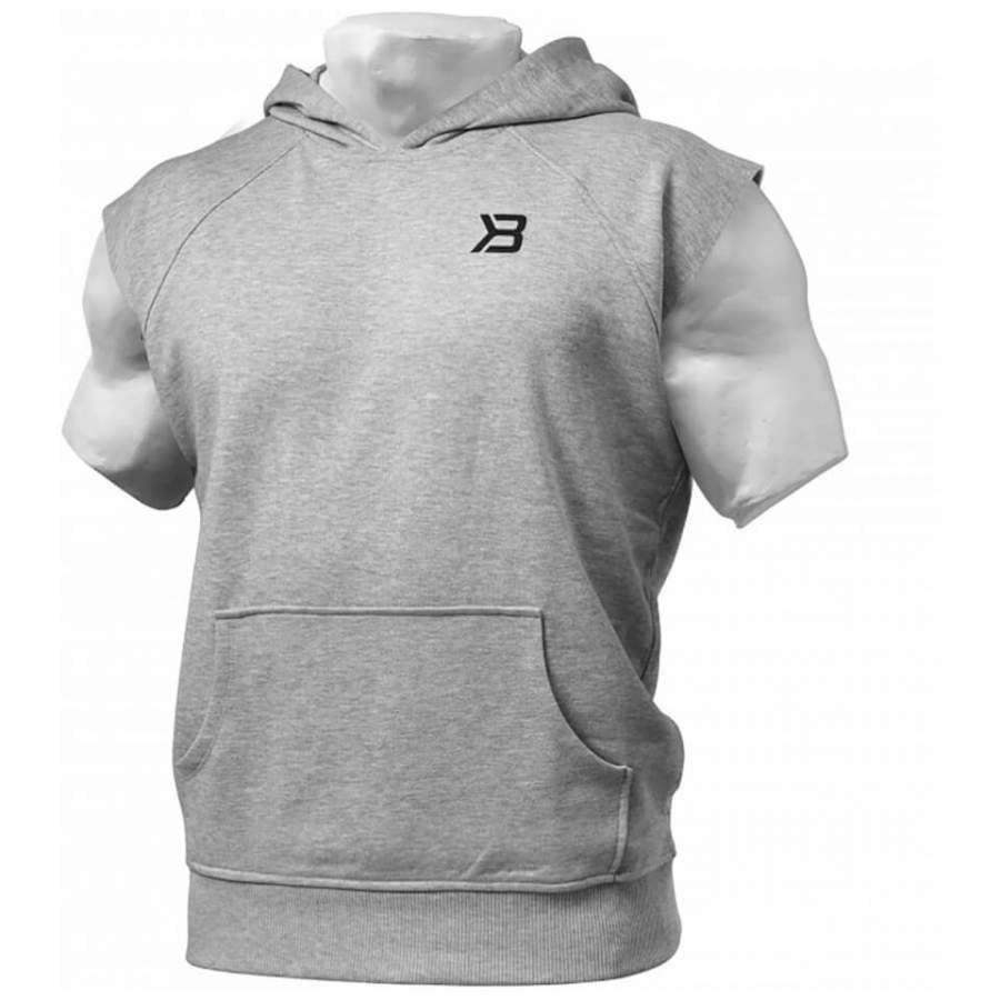 Better Bodies Hudson Short Sleeve Sweater Grey Melange M Harmaa
