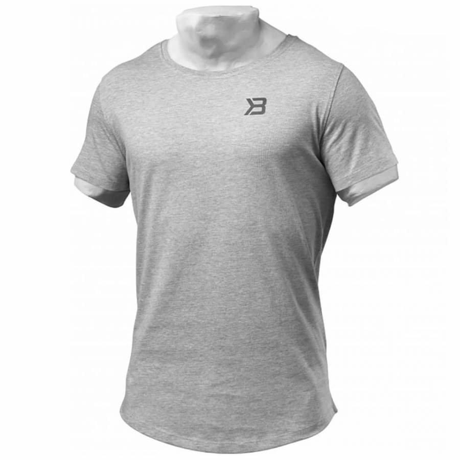 Better Bodies Hudson T-Shirt Grey Melange M Harmaa