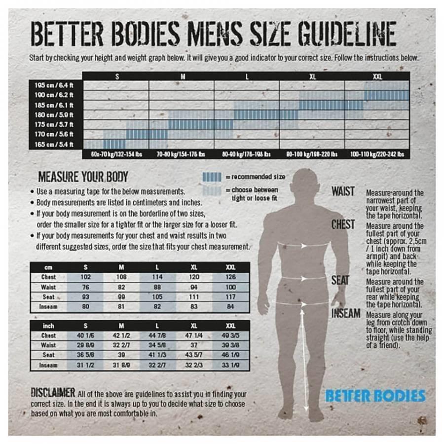Better Bodies Jersey Hoody Black M Musta