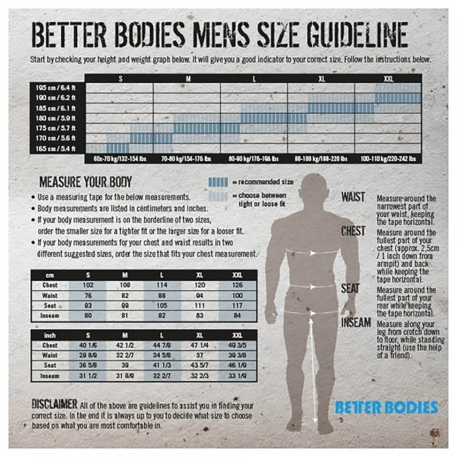 Better Bodies Jersey Hoody Black XL Musta