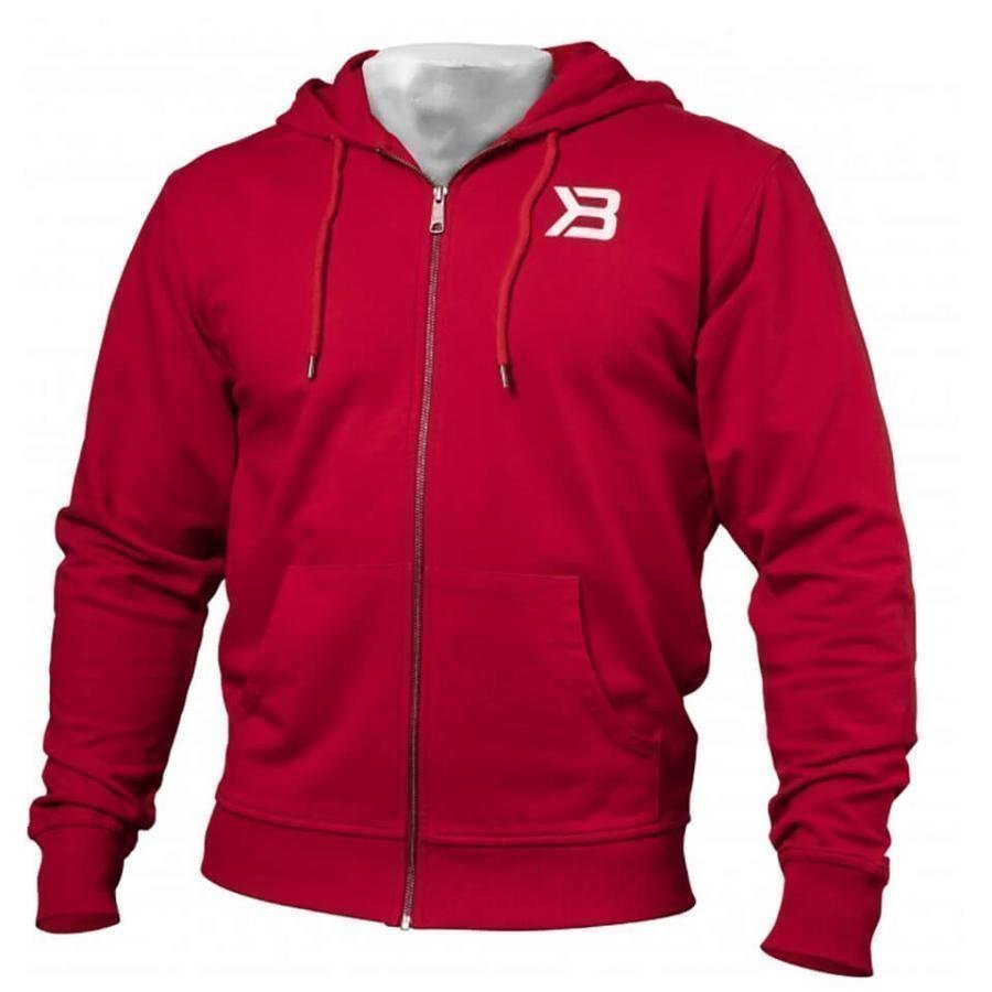 Better Bodies Jersey Hoody Bright Red S Punainen