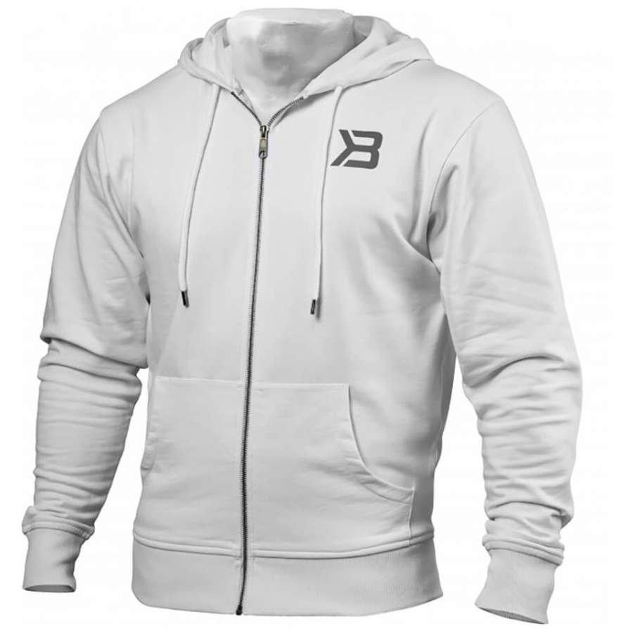 Better Bodies Jersey Hoody White M Valkoinen