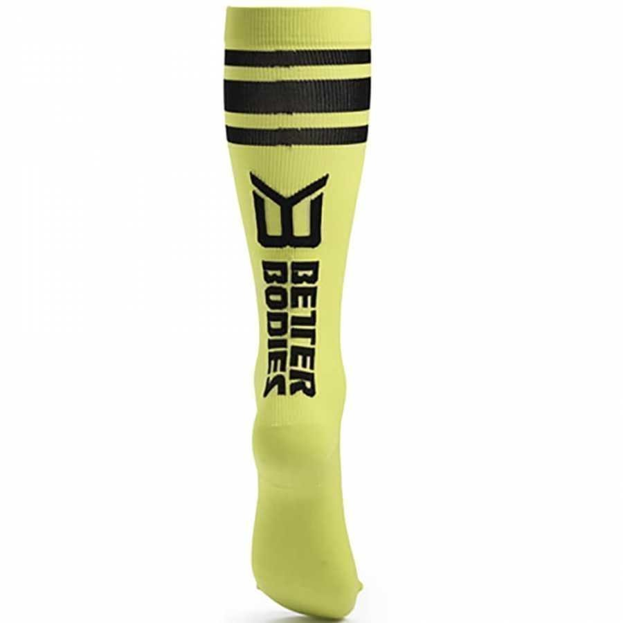 Better Bodies Knee Socks Lime S Vihreä