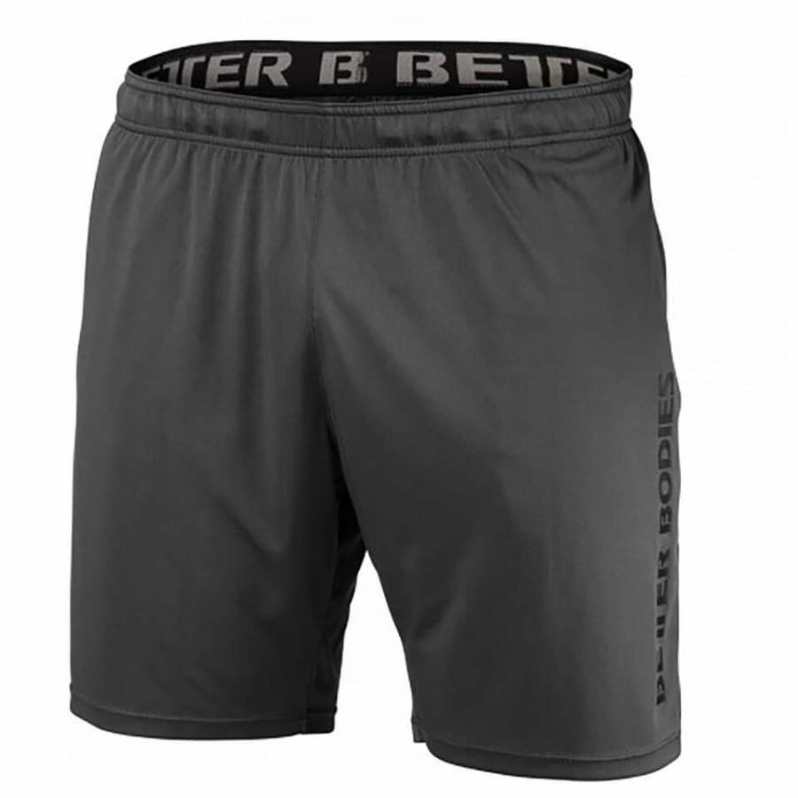 Better Bodies Loose Function Shorts Iron XL Harmaa