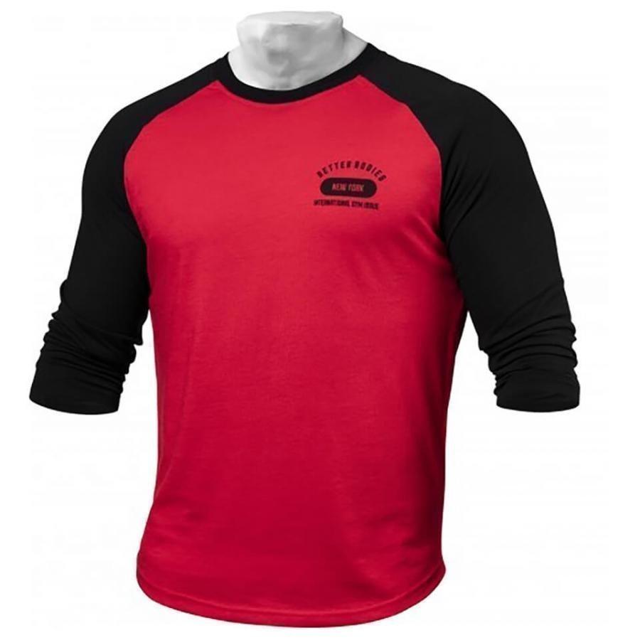Better Bodies Men's Baseball T-Shirt Bright Red L Punainen