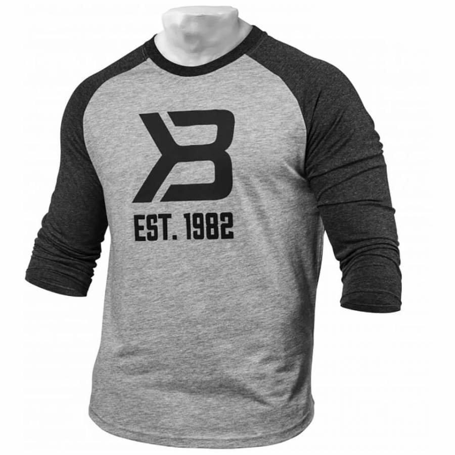 Better Bodies Men's Baseball T-Shirt Grey/Antracite M Harmaa